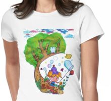 Bubble's Adventure Womens Fitted T-Shirt