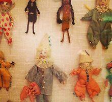 Antique Miniature Handmade Yarn Dollies by AnnieCherry