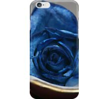 Hammersley Bone China Tea Cup and Saucer with a blue rose ~ England iPhone Case/Skin