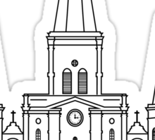 St. Louis Cathedral (Black) Sticker