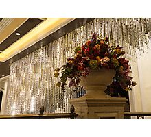 Of Flower Arrangements and Sparkling Crystals Photographic Print