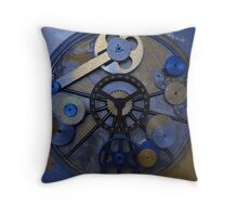 Gear Abstract Four In Blue Throw Pillow