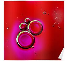 OIL AND WATER MOUSE BUBBLES Poster