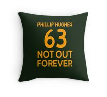 Phillip Hughes - 63 Not Out Forever  Throw Pillow