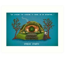 Share In An Adventure, Ode to The Hobbit Pixel Art Art Print