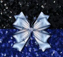 Black and Blue Sequins with Bow by ElenaIndolfi