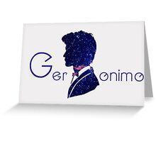 Eleventh Doctor Minimalist Design Greeting Card