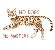 No Dogs No Masters Photographic Print