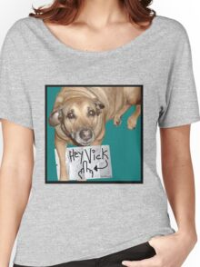My Puppy HATES Vick! Women's Relaxed Fit T-Shirt