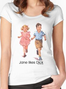 Jane Likes Dick Women's Fitted Scoop T-Shirt