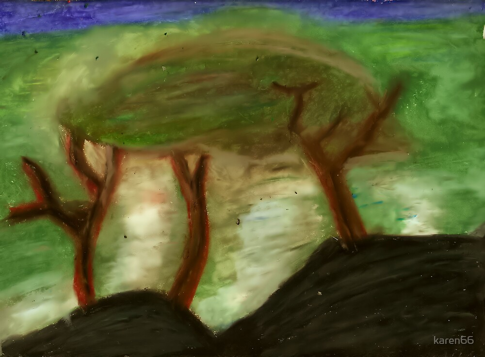 Three Trees By An Island by karen66