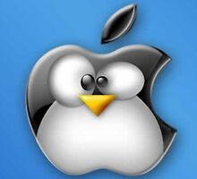 Linux Apple by mymousekeeper