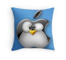 Linux Apple Throw Pillow