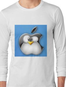 Linux Apple Long Sleeve T-Shirt