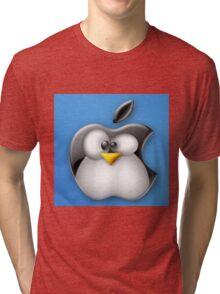 Linux Apple Tri-blend T-Shirt