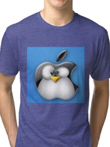 Linux Apple Tri-blend T-Shirt