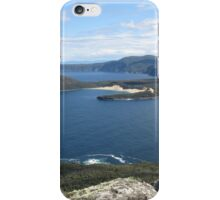 Crescent Bay and Brown Mt with Cape Raoul beyond iPhone Case/Skin