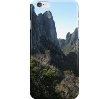 Barron Pass flanked by Sharlands and Philps Peaks iPhone Case/Skin