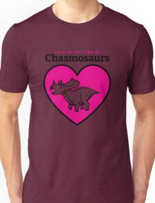 Love in the Time of Chasmosaurs logo: full color T-Shirt