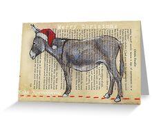 Donkey Christmas card Greeting Card
