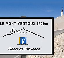 Mont Ventoux Cycling Sign Tour de France Poster by movieshirtguy