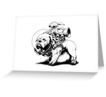 Jetpack Dog | Bulldog Greeting Card