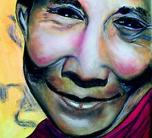 The fourteenth and current Dalai Lama.(Tenzin Gyatso (born 6 July 1935) by ValerieSherwood