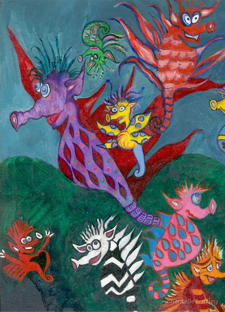 THE DANCE OF THE SILLY SEAHORSES by chantelle hartley