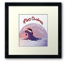 Antarctic Christmas Framed Print