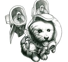 Jetpack Dog | Fluffy by Gregory Titus