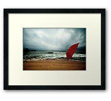 Red Umbrella II Framed Print