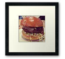 Bacon Cheeseburger Photo Framed Print