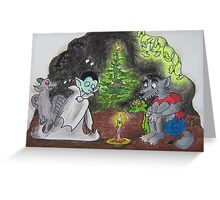 Hallowe'en Christmass Greeting Card