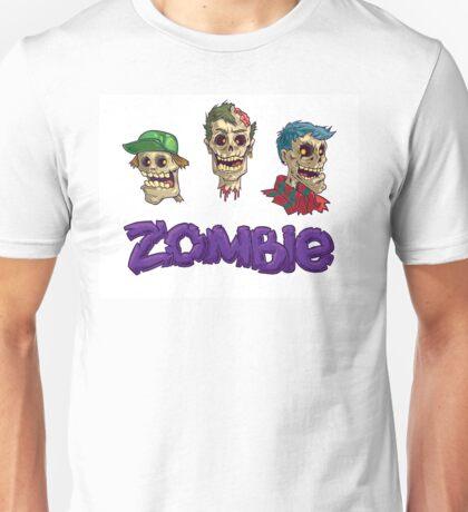 Zombie three heads  Unisex T-Shirt