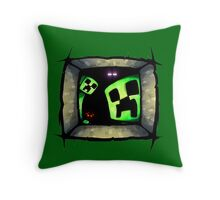 hello-creepers Throw Pillow