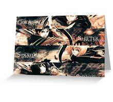 Attack On Titan - Eren, Levi, Mikasa, Armin Greeting Card