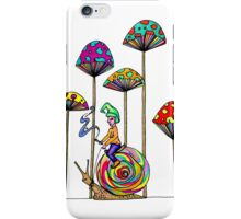 Gnome Snail Ride iPhone Case/Skin