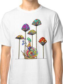Gnome Snail Ride Classic T-Shirt