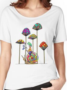 Gnome Snail Ride Women's Relaxed Fit T-Shirt