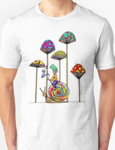 Gnome Snail Ride Unisex T-Shirt