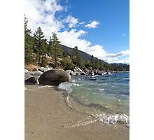 Waves Rolling onto the Shore at Lake Tahoe Photographic Print
