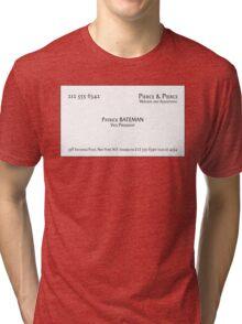 Patrick Bateman Business Card Tri-blend T-Shirt
