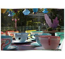 Disney Cups Of Tea / Tea Cups/ Alice In Wonderland Poster