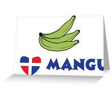 I Love Mangu Greeting Card