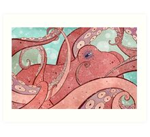 Tangled Ocean Octopus Art Print
