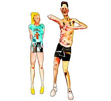 NINJA & YOLANDI -- DIE ANTWOORD -- CARTOON Photographic Print
