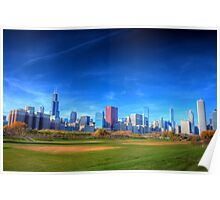 Chicago City Skyline Poster