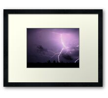 powerful burst Framed Print