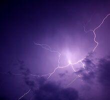 overhead cloud burst by Don Cox