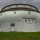 Round White Barn by Adam Kuehl